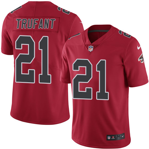Desmond Trufant Nike Atlanta Falcons Limited Red Color Rush Jersey