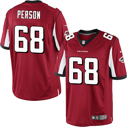 Mike Person Youth Nike Atlanta Falcons Limited Red Team Color Jersey